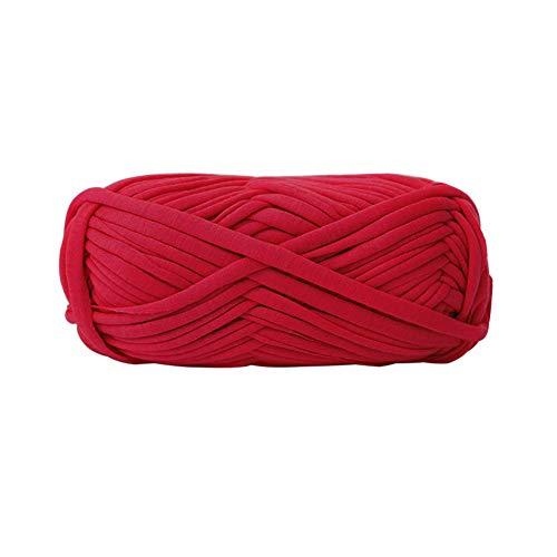 dljztrade gebreide garen, meerkleurig, handgemaakte stof, DIY gevlochten tapijt, handtas, mantel, garen donkerrood