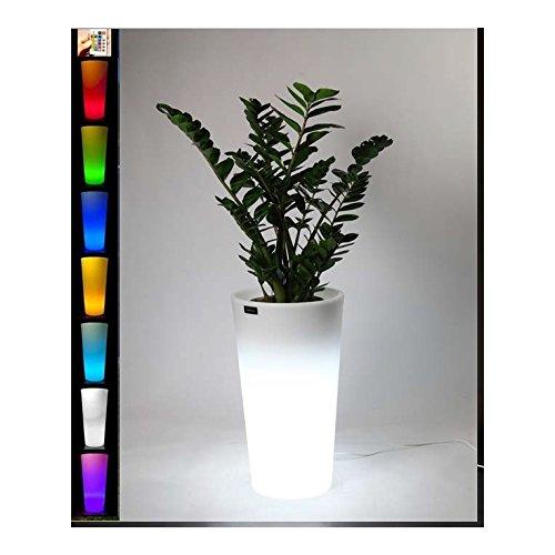 STARFIVE Vaso Luminoso Multicolore a Batteria - Senza Cavi - Vaso in Resina con Cache-Pot Luce Multicolor RGB + W