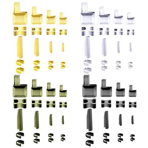 SAVITA 80st Glidreglage Av Metall, Dragkedja, Blixtlåshållare För Insättning Av Stift, Reparationssats För Blixtlåsstopp För Reparation Och Byte Av Jackor (4 Storlekar: # 3, 5, 8, 10)