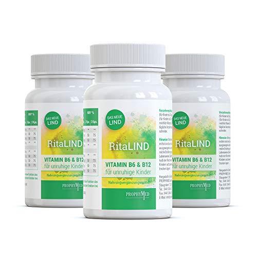 RitaLIND Kapseln für Konzentration und psychische Funktion (3er Pack) - mit Traubenkernextrakt & Safran Extrakt, enthält OPC, Taurin & Coenzym Q10 in hoher Konzentration mit Vitamin B6 & B12, vegan