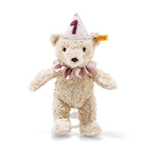 Steiff Spieluhr Teddybär Mädchen 1. Geburtstag blond 26cm Kuscheltier Plüschtier Plüschteddy