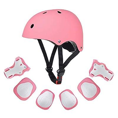 Grist CC Kinder Sport-Schutzausrüstung Knieschoner Ellenbogenschoner Handgelenkschutz Helm Schutzset 7PCS