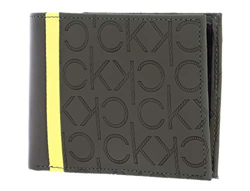 Calvin Klein Mono Blend 5CC Wallet with Coin Dark Olive