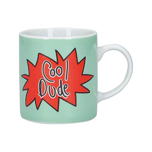 KitchenCraft Cool Dude - Taza de café (porcelan