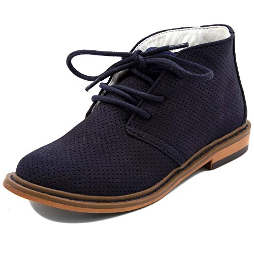Nautica Kids Puget Youth Boys Lace Up Dress Chukka Boot-Puget Youth-Navy Perforated-4 Mississippi