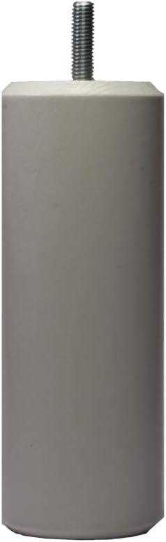 Margot camaleón Cilindro – Juego de 4 Patas de somier, Madera, Barniz Natural, 5,5 x 5,5 x 18 cm