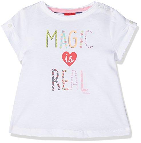 s.Oliver s.Oliver Baby-Mädchen 65.804.32.5037 T-Shirt, Weiß (White 0100), 74