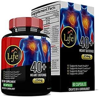 Natural Heart Health Supplement-Life Pill:40+ Heart Defense w/Vitamin C, Moringa Oleifera, Bryophyllum Pinnatum. Daily Support & Regulate Blood Pressure, Blood Sugar and Cholesterol.