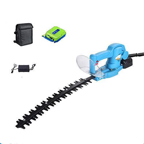 K99 800W sin Cepillo eléctrico Cortasetos, Recargable portátil de Mano Hedge Cortador automático Jardín Scimitar poda,with Battery
