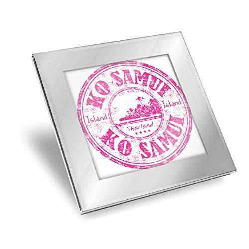 Posavasos de cristal plateado impresionante – Ko Samui Tailandia Tailandia Tailandia brillante calidad de viaje protección de mesa para cualquier tipo de mesa #5838