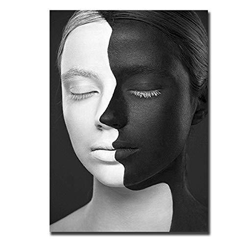 Imgenes de carteles en blanco y negro decoracin de arte de pared moderno carteles e impresiones pintura arte sala de estar hogar sin marco pintura de lienzo decorativa Q11 30x40cm