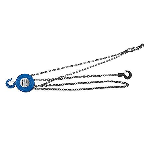 Silverline 633705 - Polipasto manual de cadena (1.000 kg/elevación máxima 2,5 m)