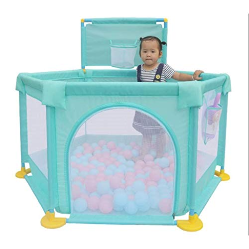 JPVGIA Baby Fence Baby Child Clôture de Jeu Intérieur Toddler Safety Fence Home Jeu Maison Crawling Mat Fence (Color : Green)