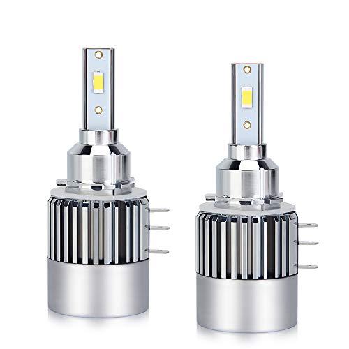 H15 Bombillas LED para faros delanteros Canbus sin errores 80 W Super Bright CSP Chips 10000LM 6500K Kit de conversión de bombillas LED blancas para faros halógenos HID Xenon [Clase energética A+++]