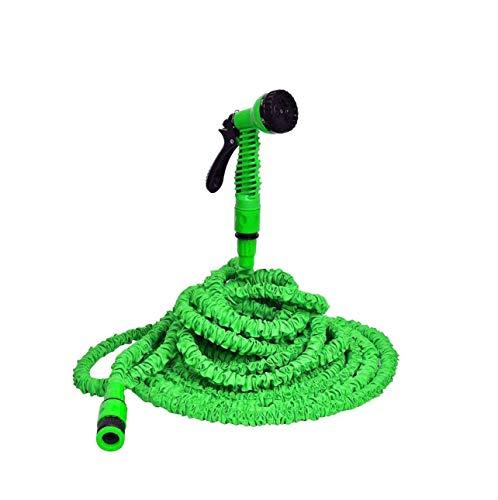 Fame home tuinslang waterpistool 3x uitgebreide tuinslang, multifunctionele spuitpistool, uitbreidbare flexibele slang, lekvrij licht en gemakkelijk op te slaan, groen multifunctioneel waterpistool