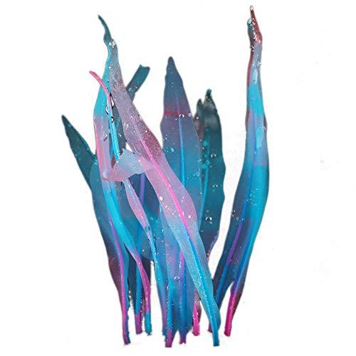 Feli546Bruce Aquarium-Zubehör, künstliche Seeunkrautpflanze Seekraut, weiches Silikon Aquarium-Dekoration