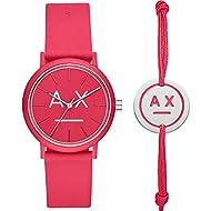 Armani Exchange Quartz Watch with Silicone Strap AX7110