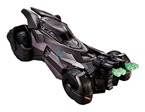 Mattel DHY29 - Sammelfigur, Batman vs Superman, Dawn of Justice Deluxe Batmobil
