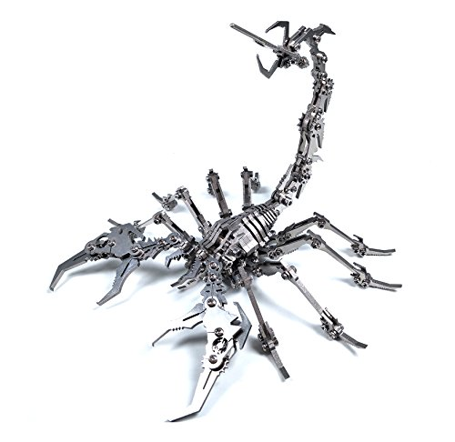 Scorpion 3D Detachable Stainless Steel DIY Joint Mobility Miniature Model Kits Puzzle Toys (DIY)