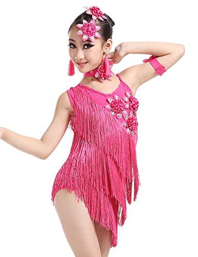 besbomig Niños Vestido de Baile Latino Salsa Tango Fiesta D