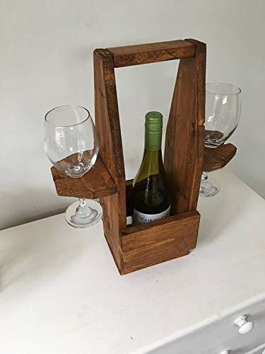 Soporte para vino y copas de vino con soporte de cristal,