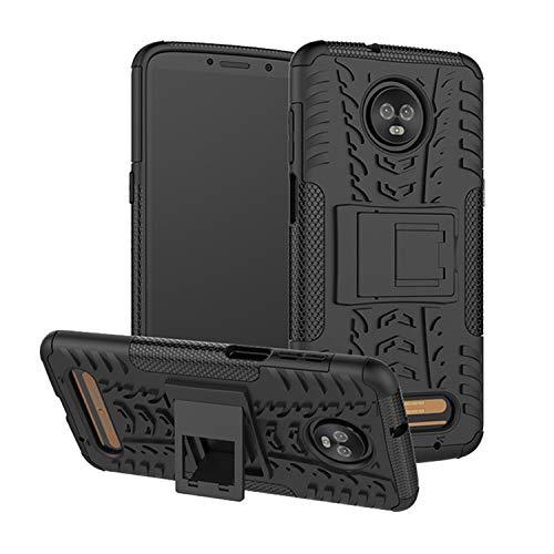 betterfon | Outdoor Handy Tasche Hybrid Hülle Schutz Hülle Panzer TPU Silikon Hard Cover Bumper für Motorola Moto Z3 Play Schwarz