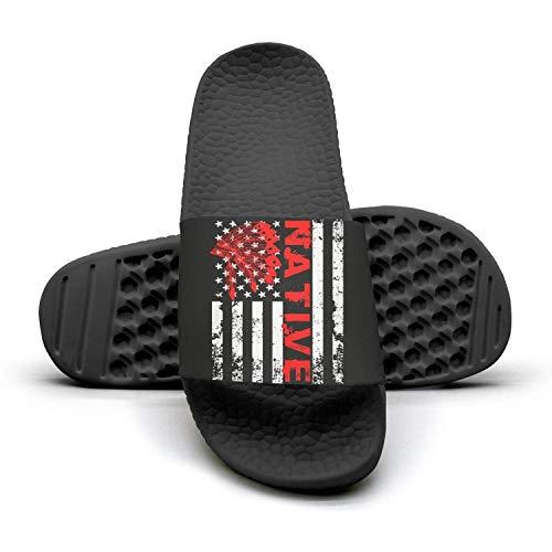 Native American Day National Flag Slide Sandal Slippers for Women