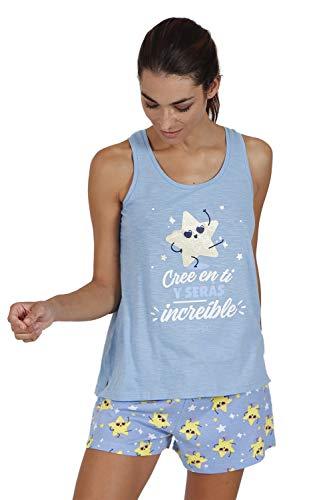MR WONDERFUL Pijama Tirantes Cree en Ti para Mujer