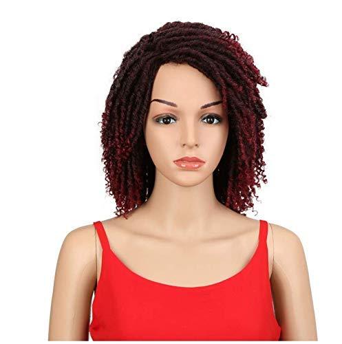 Czc-dp Fournitures de Femmes Idol Black Fashion Femmes 14 Pouces Haute température Fibres Courtes Fibres synthétiques Perruque de Cheveux Courts Convient pour Les Femmes