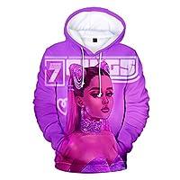 CHING パーカー Ariana Grande フーディー男女兼用 音楽バンド長袖フード付きセータープルオーバー