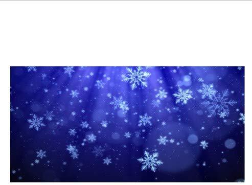 ZFFSC Elegant Diep Blauw Heldere Sneeuwvlokken Strand Badhanddoeken Stijlvolle Winter Sneeuwvlok Kerstmis Reizen Spa Sauna Handdoek Xmas Gift Decor 70x140cm Badhanddoek