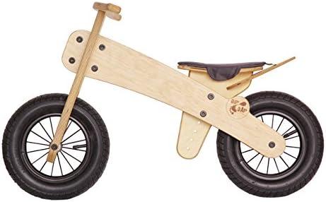 DIPDAP Rueda Madera Niños Bicicleta sin Pedales Respetuoso con el Medio: Amazon.es: Juguetes y juegos