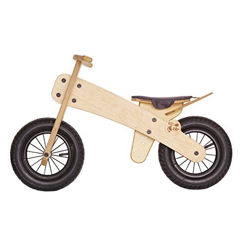 DIPDAP Luxus Lauflernrad / Laufrad - Balance aus Holz Kinder Fahrrad Laufrad Classic grau Mini für Kinder ab 2 Jahren