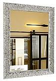GaviaStore - Julie Silver 70x50 cm - Espejo de Pared Moderno (18 tamaños y Colores) Grande Muebles hogar decoración Salon Modern Dormitorio baño Entrada plat