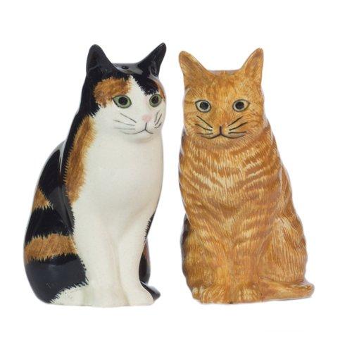 Quail Ceramics Eleanor & Vincent Cat Salt & Pepper Pots