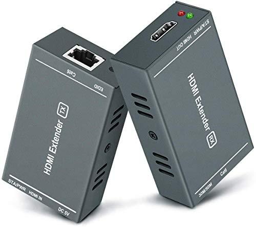 HDMI 延長器 (エクステンダー)1080P @ 60Hz、3D、単一のCat5e / Cat6 / Cat 7LANケーブルケーブルで最大(60...