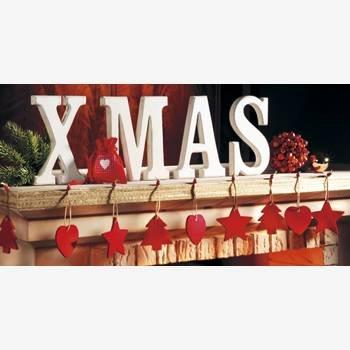 DeCoArt....Puzzlekarte Weihnachtskarte Xmas aus Puzzleteilen Kamin Girlande Herz Tannenbaum Herz Filz
