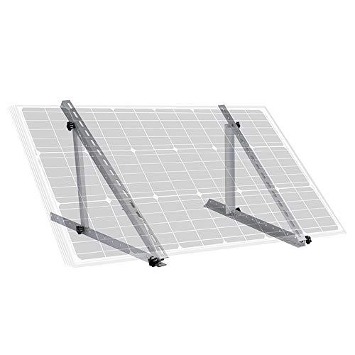 ECO-WORTHY 28 inch Adjustable Solar Panel Tilt Mount Mounting Rack Bracket Set Rack Folding Tilt Legs, Boat, RV, Roof Off Grid System (28