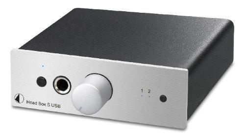 Pro-Ject 33519 Head Box S - Amplificador para auriculares (USB), color negro