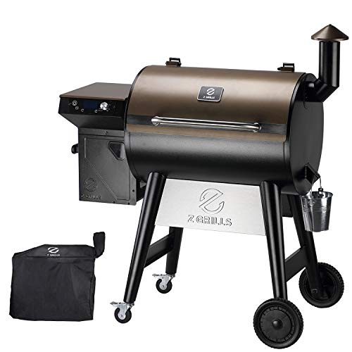 Z GRILLS 7002C 2021 Upgrade Wood Pellet Grill & Smoker for Outdoor Cooking, 8 in 1 BBQ Grill with Digital Controller, 694 Sq