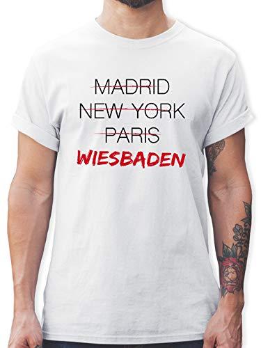 Städte - Weltstadt Wiesbaden - S - Weiß - weltstadt Wiesbaden - L190 - Tshirt Herren und Männer T-Shirts