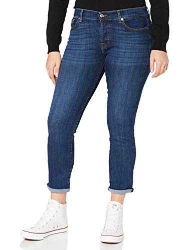 7 For All Mankind Asher Jeans, Blu Scuro, 42^44 Donna