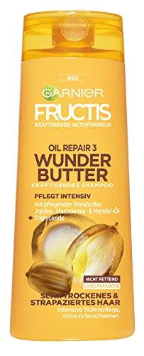 Garnier Fructis Oil Repair 3 Wunder Butter Kräftigendes Shampoo, intensive Pflege für sehr trockenes Haar, mit Sheabutter, 6er-Pack (6 x 250 ml)
