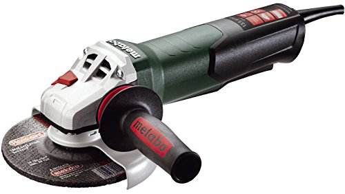 """Metabo- 6"""" Angle Grinder - 9, 600 Rpm - 13.5 Amp W/Electronics, Non-Lock Paddle (600488420 15-150 Quick), Professional Angle Grinders"""