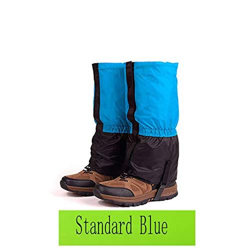 ESFHWYP Skiing Boots Gaiters Men Women Kids Cycling Shoe Cover Hiking Trekking Climbing Snow Leg Warmer Gaiters Standard Blue