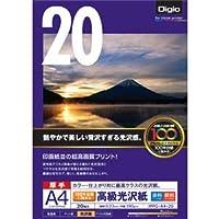 (業務用セット) インクジェット用紙 100年台紙に貼れる高級光沢紙 厚手 A4 20枚 JPPG-A4-20【×5セット】