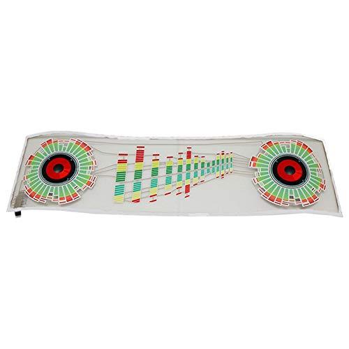 Dasorende Ecualizador Activado por Sonido LED para Parabrisas de Coche Luz de NeóN el Estilo de Etiqueta Engomada de la LáMpara del Flash del Ritmo de la MúSica con la Caja de Control
