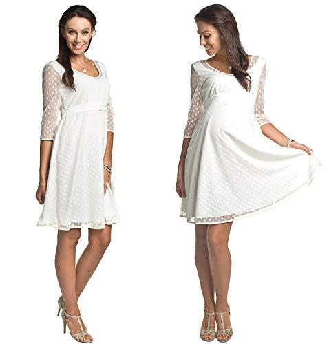 Torelle Damen Hochzeitskleid Umstandskleid Brautkleid Nicht nur für Schwangere, Modell: Marina, Creme, S