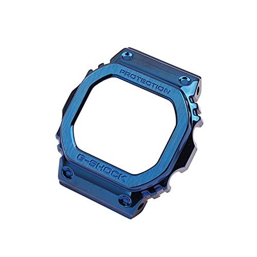 CGGA Caja de Reloj de Correa de Acero Inoxidable Accesorios para Hombres DW5600 DW5000 DW5030 DW5035 Pulsera de Metal Deportes al Aire Libre para Casio G-Shock