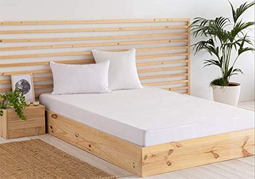 Todocama - Protector de colchón/Cubre colchón Ajustable, de Rizo, Impermeable y Transpirable. (Todas Las Medidas Disponibles). (Cama 80 x 190/200 cm)